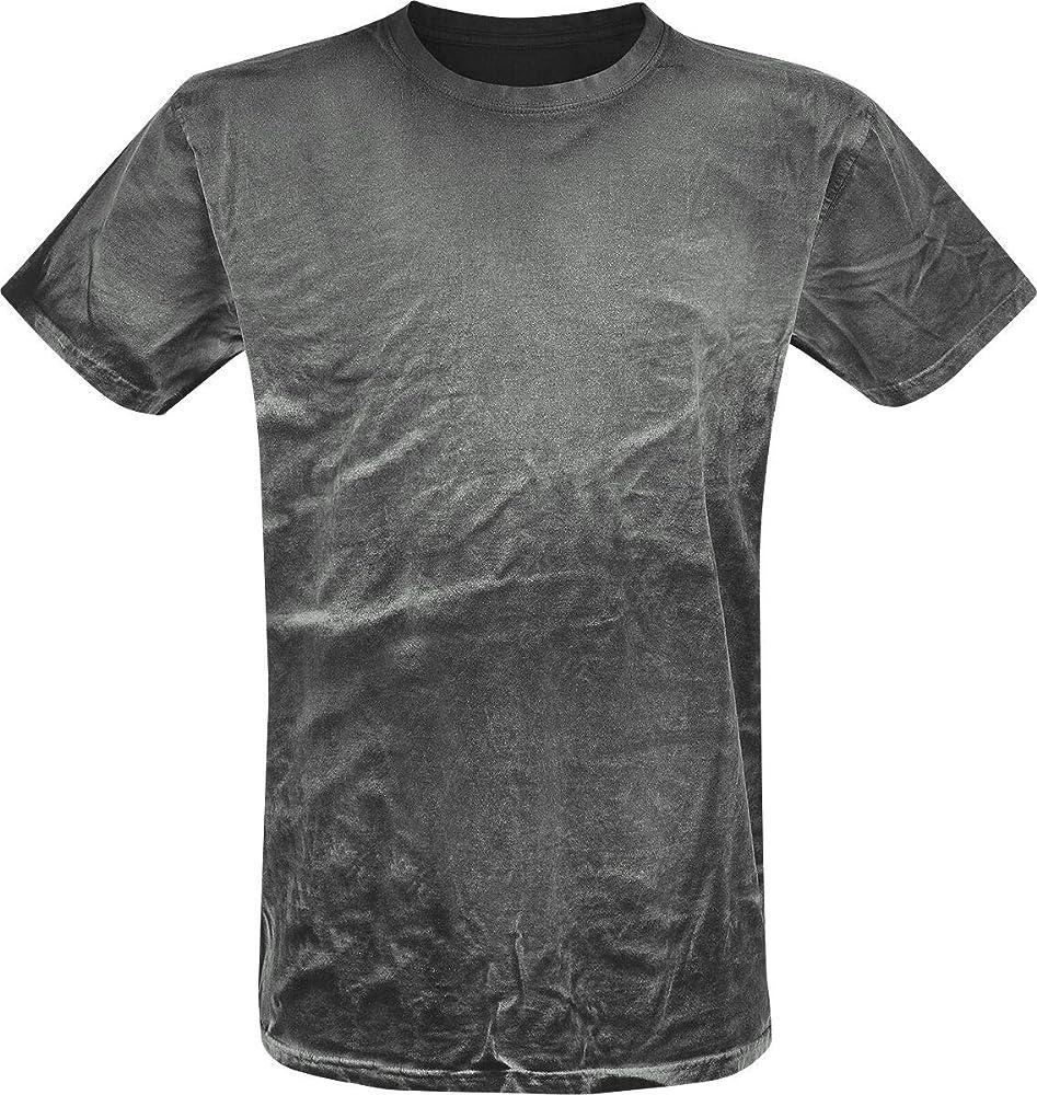 Outer Vision Camiseta Negra Spray Lavado Hombre Camiseta Gris 3XL, 100% algodón, Regular: Amazon.es: Ropa y accesorios