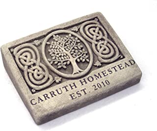 product image for Carruth Studios Two Lines Engraved Celtic Tree Memorial Plaque 9.25 Inches Wide