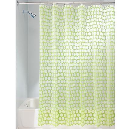InterDesign Honeycomb Shower Curtain 72 X Lime