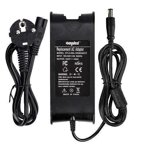 Sunydeal Notebook Chargeur d'alimentation Adaptateur pour Dell, Noir,19.5V -3.34A/5A, 7.4*5.0mm.