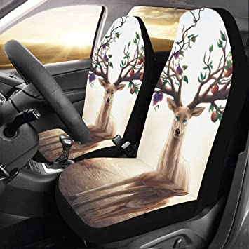 Car Seat Covers for Women for Men with Universal Auto Sedan Bucket Seat Cushion