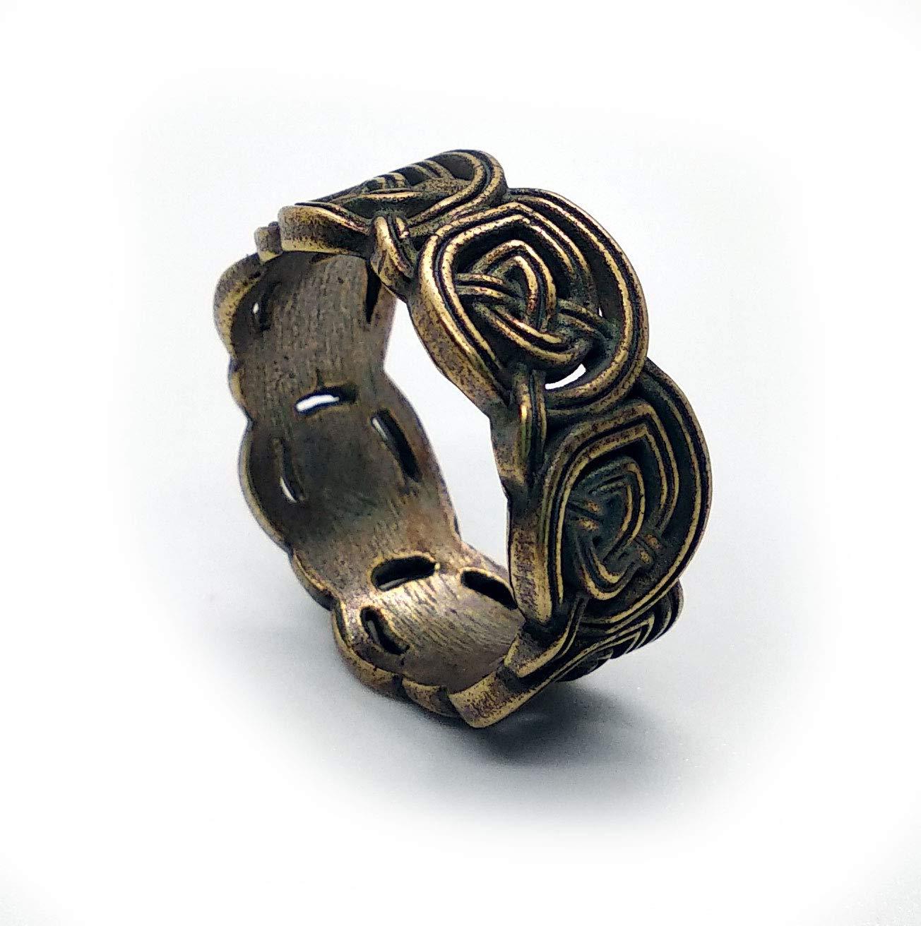 Size 10 Celtic knot brass ring