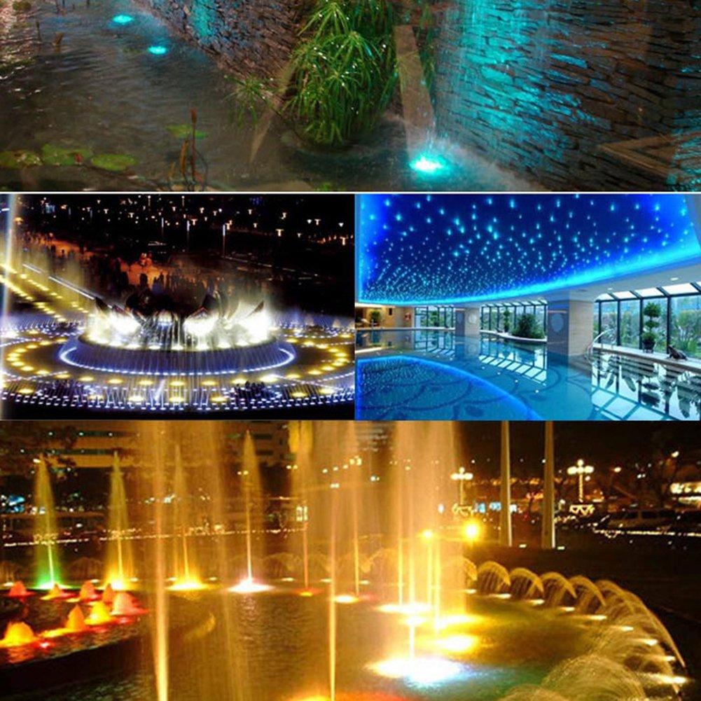 JAYLONG 6-24 W LED RGB Luz Subacuática IP65 A Prueba De Agua para Piscina Sumergible Fuente Acuario Estanque De Agua Fiesta De Bodas: Amazon.es: Deportes y ...