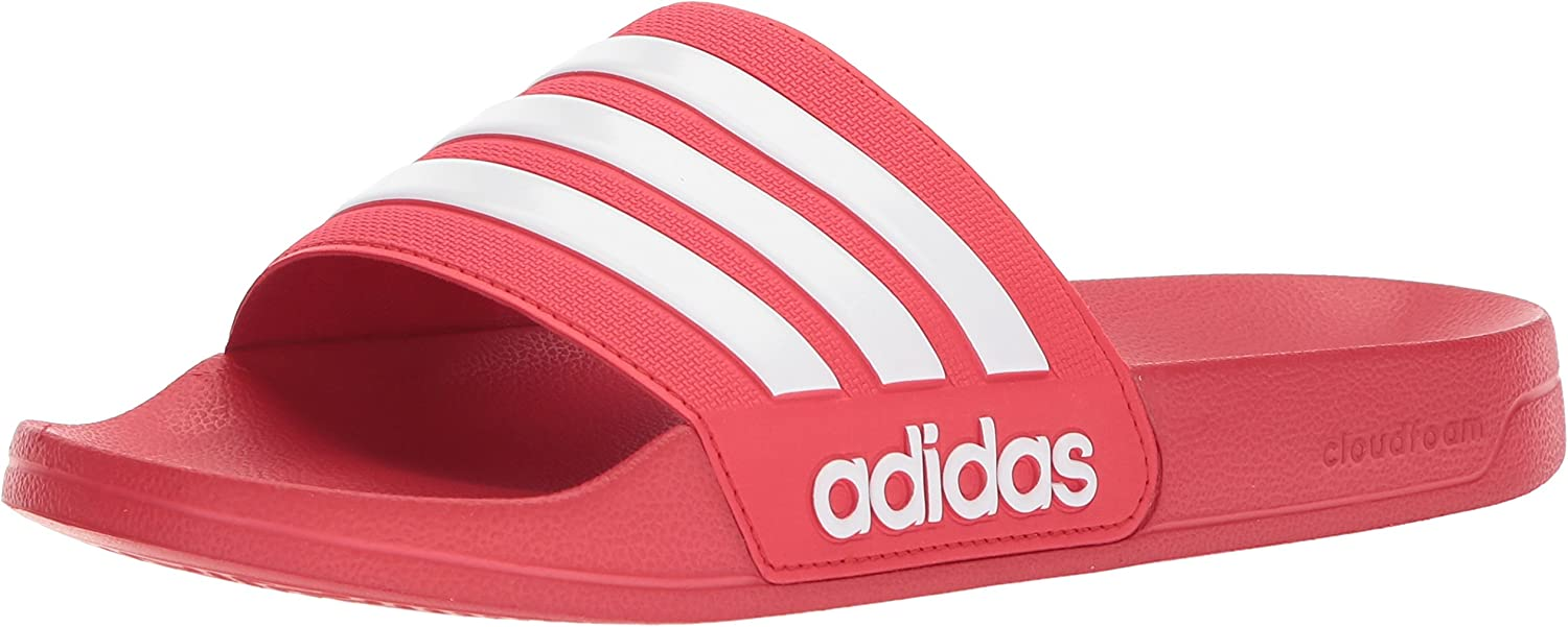 adidas Adilette Shower, Tongs Homme Scarlet White Scarlet