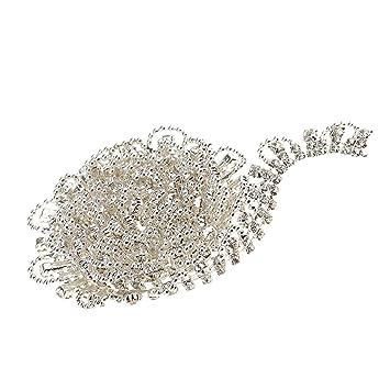 Amazon.com  Jili Online 1yard Rhinestone Crystal Beads Ribbon Lace ... d5a2c077d930