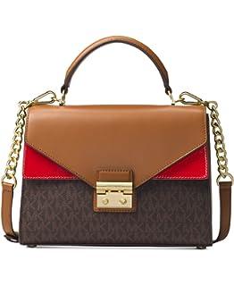 4a20ddee28c9 Amazon.com  Michael Kors Sloan Medium Leather and Logo Satchel ...