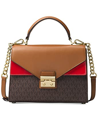 f5a7372dde47e Amazon.com  Michael Kors Sloan Ladies Small Leather Satchel 30H7GSLS2V166   Watches