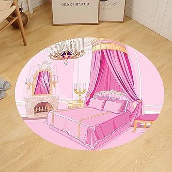 Amazon.com: Gzhihine Custom round floor mat Teen Girls Decor Pattern ...