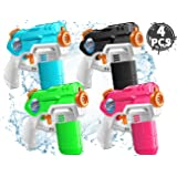 KIDPAR 4 Pack Waters Gun for Kids Soaker Squirt Games Easy to Catch, Durable Shooting, Long Range and Lovely Shape…