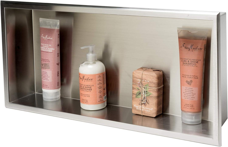 Ensemble niche pour salle de bain encastrable en acier s/érie Tino by