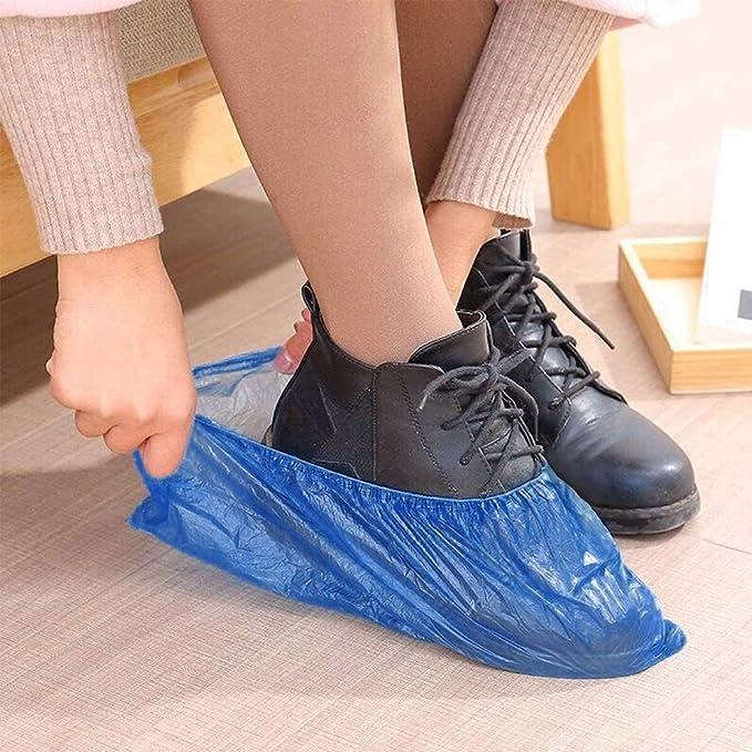 100pcs Monouso Scarpe Coperture Indoor Pulizia Pavimento Non Tessuto Nuovo