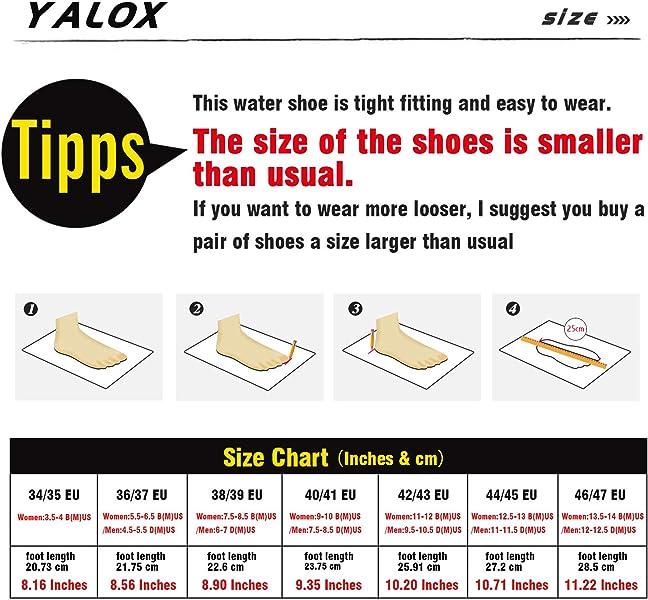 Amazoncom Yalox Men And Women Slip On Water Shoes Lightweight