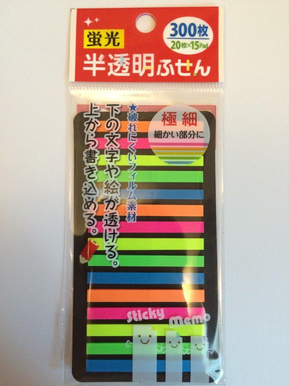無印良品 PET 透明付箋紙 ¥263 ○ 3M ポスト・イット フラッグ (6色) ¥357