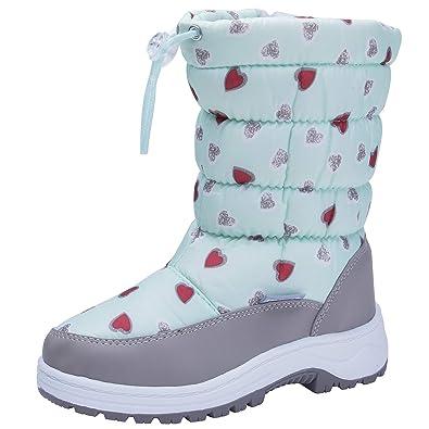 a5d96586f122f snofiy スノーブーツ 女の子 ブーツ キッズ ジュニア 子供靴 可愛い 雪靴 ボア 保温 防水 スキー