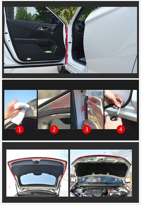 Baugger Car Door Seal Strip 5Meters Big D Small D Z Shape P Type Car Door Seal Strip Auto Rubber Seal Strips Waterproof Trim Dustproof Sound Insulation Weatherstrip Big D Small D-Small D Shape