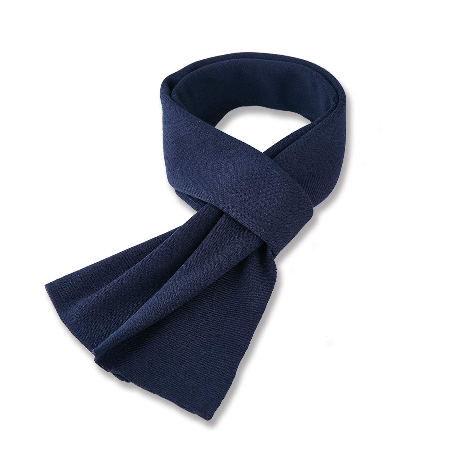 Taylormia Men's Winter Fashion Cashmere Feel Solid Color Scarf Warm Soft Wool Knit Scarves(Blue)