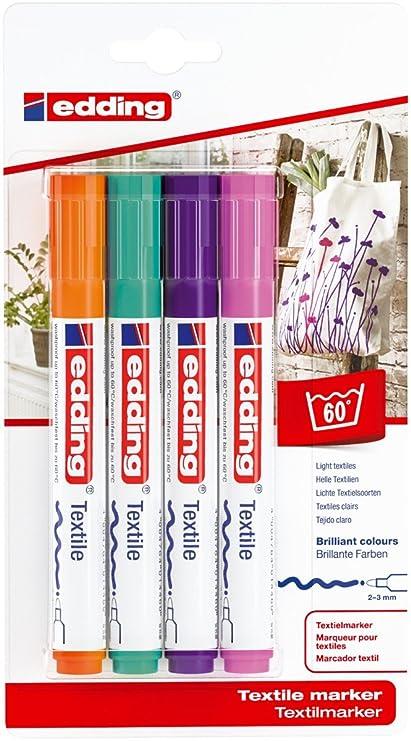 EDDING Wäschemarker 8040 Textilmarker Laundry Marker Textilstift Rundspitze 1mm