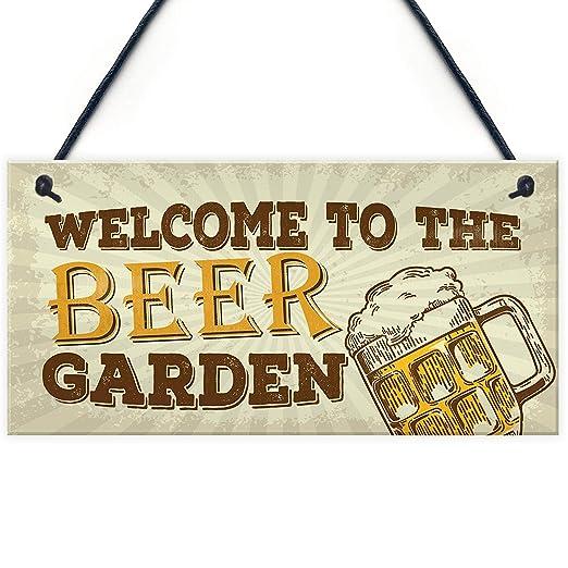 Welcome To The Beer Garden Cartel de Madera Arte decoración ...