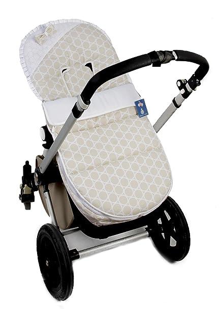 Saco silla Bugaboo (Serie Circulos)  Color beige-blanco ...