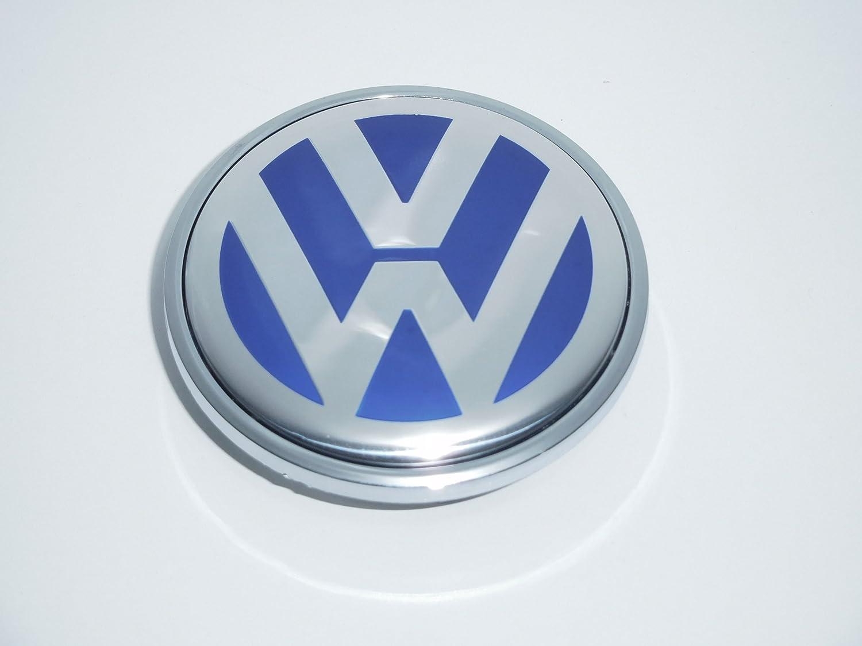 CPLL Tapacubos de aleación para Volkswagen Transporter 03-2015 TouarEG 03-15, 69 mm, 7L6601149B, color azul: Amazon.es: Coche y moto