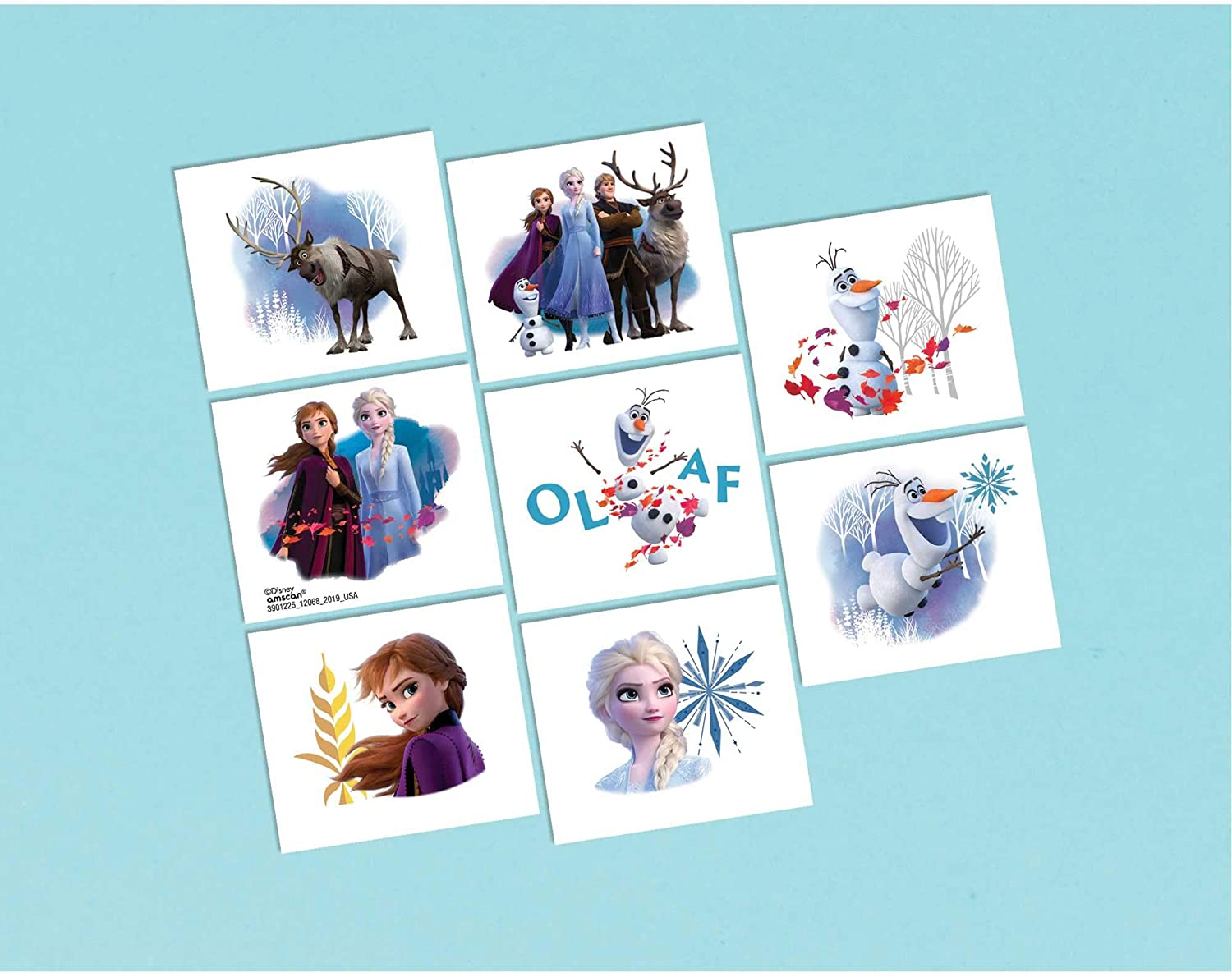 Amscan Frozen 2 Birthday Tattoos Party Favor 2 X 1 75 8 Ct