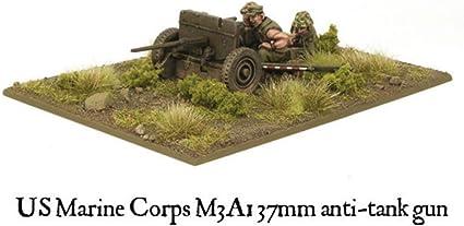 Warlord Bolt Action United States 37mm Usmc M3a1 Anti-tank Gun Miniature