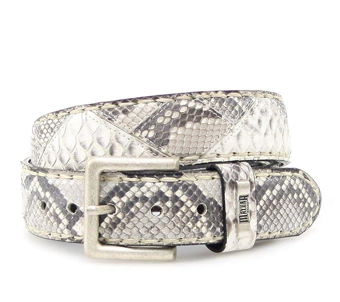 aeac8459f6ce mayura Boots Ceinture en cuir mb1020 Python Changement de ceinture (Marron,  Noir   Blanc