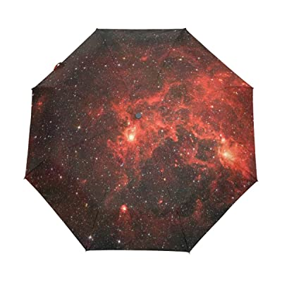 WIHVE Galaxy Stars Space Starry Umbrella Auto Open Close Windproof Compact