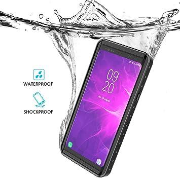 BasicStock Funda Impermeable Samsung Galaxy Note 9, [Resistente a los Rayones] [Protección de 360 Grados], Carcasa con Protector de Pantalla ...