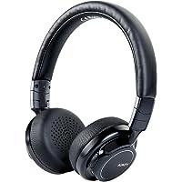 AUKEY Bluetooth Kopfhörer Kabellos on Ear, Dual 40mm Treiber mit Sattem Bass, 18 Stunden Spielzeit, Mikrofon und 3,5-mm-Audioeingang, Transportetui, Ermüdungsfreies Tragen