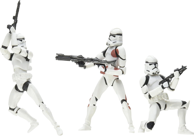 Amazon Com Star Wars Revenge Of The Sith Clone Trooper 3pk 7th Legion Colors Toys Games