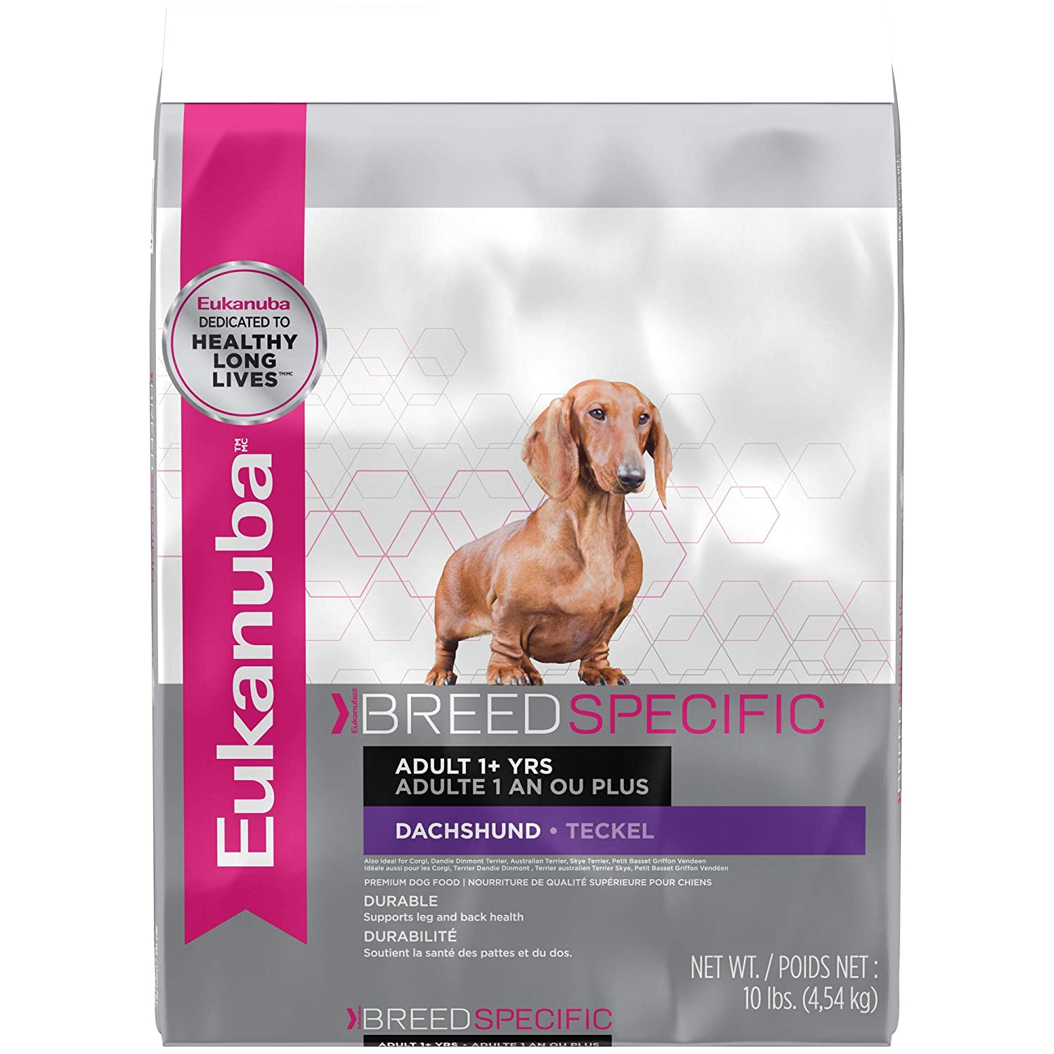 10 lbs. Eukanuba Breed Specific Adult Dachshund Dog Food 10 Pounds