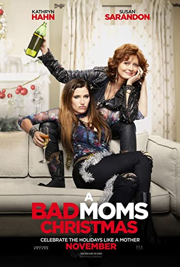 A Bad Moms Christmas Movie Poster.Amazon Com Kirbis A Bad Moms Christmas Movie Poster 18 X 28
