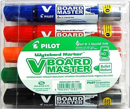 Pilot Recharge pour marqueur effa/çable /à sec V-Board Master Bleu