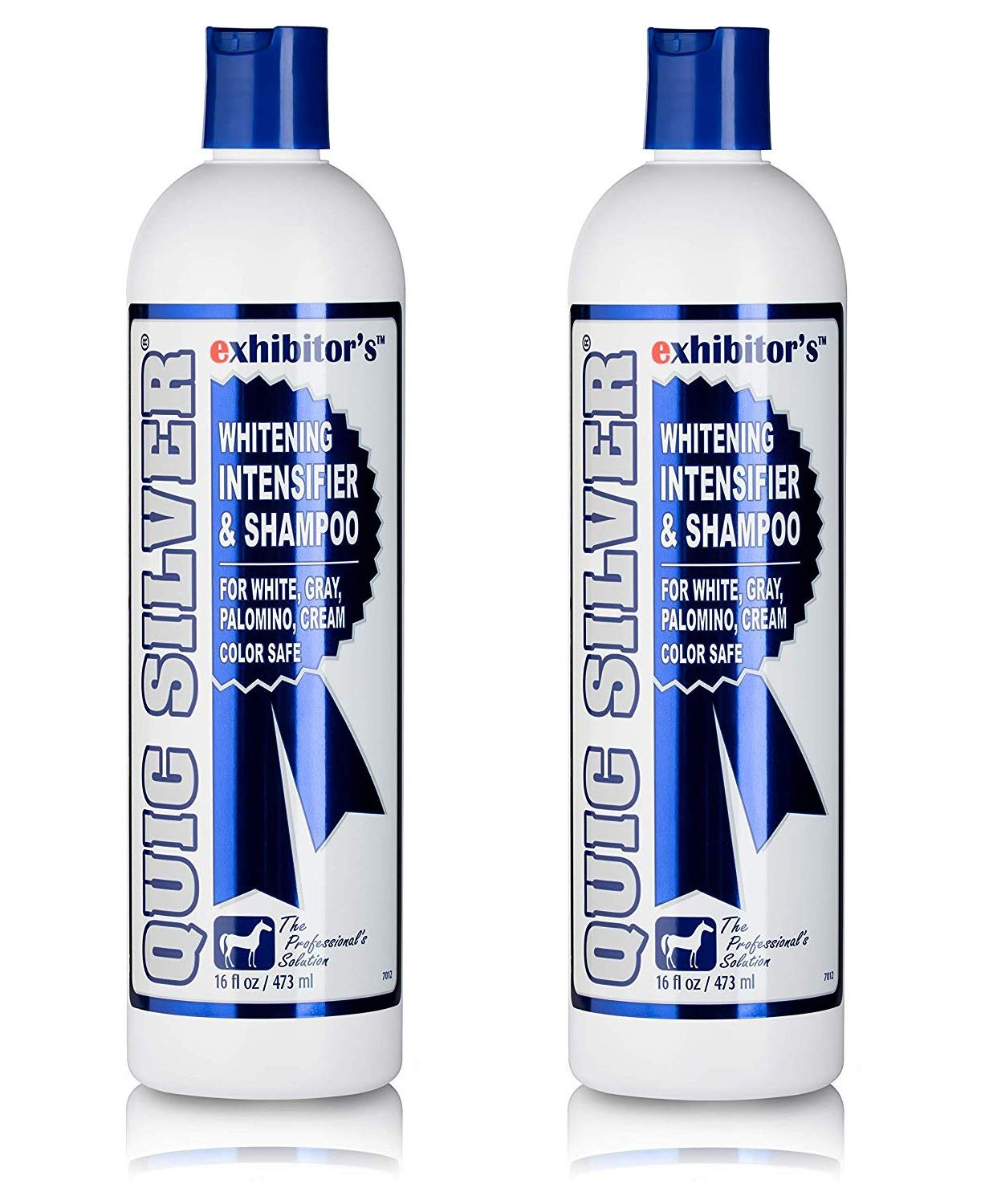 Exhibitor Laboratories 2 Pack of Quic Silver, 16 Ounces Each, Whitening Intensifier and Shampoo for Horses, Color Safe by Exhibitor Laboratories