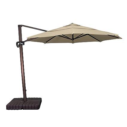 Delightful Phat Tommy 11 Ft Cantilever Offset Aluminum Market Patio Umbrella With  Sunbrella Fabric U0026 Tiltu2013