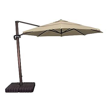 Amazoncom California Umbrella 11 Round Aluminum Cantilever