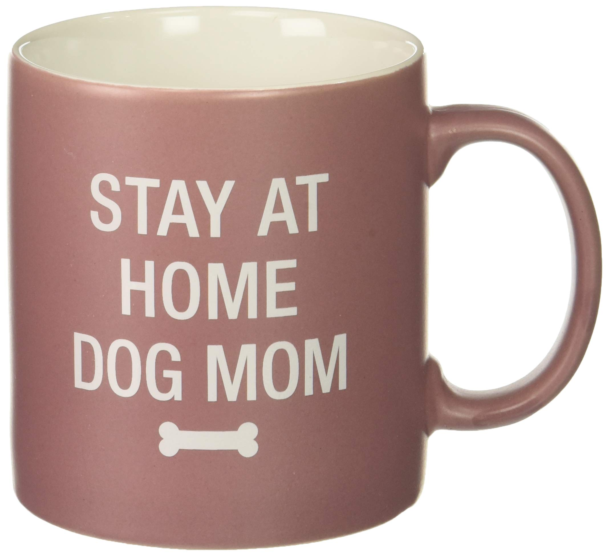 About Face designs 121739 Stay At Home Dog Mom Coffee Mug, 20 oz, lavender
