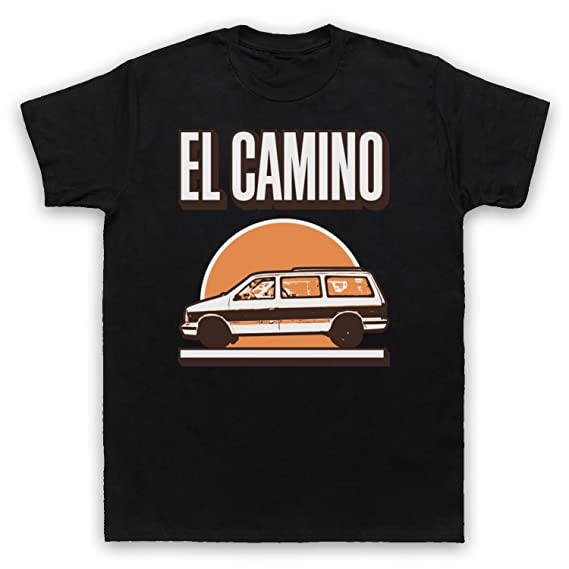 6838562ad2 Inspired by Black Keys El Camino Unofficial Mens T-Shirt  Amazon.co.uk   Clothing
