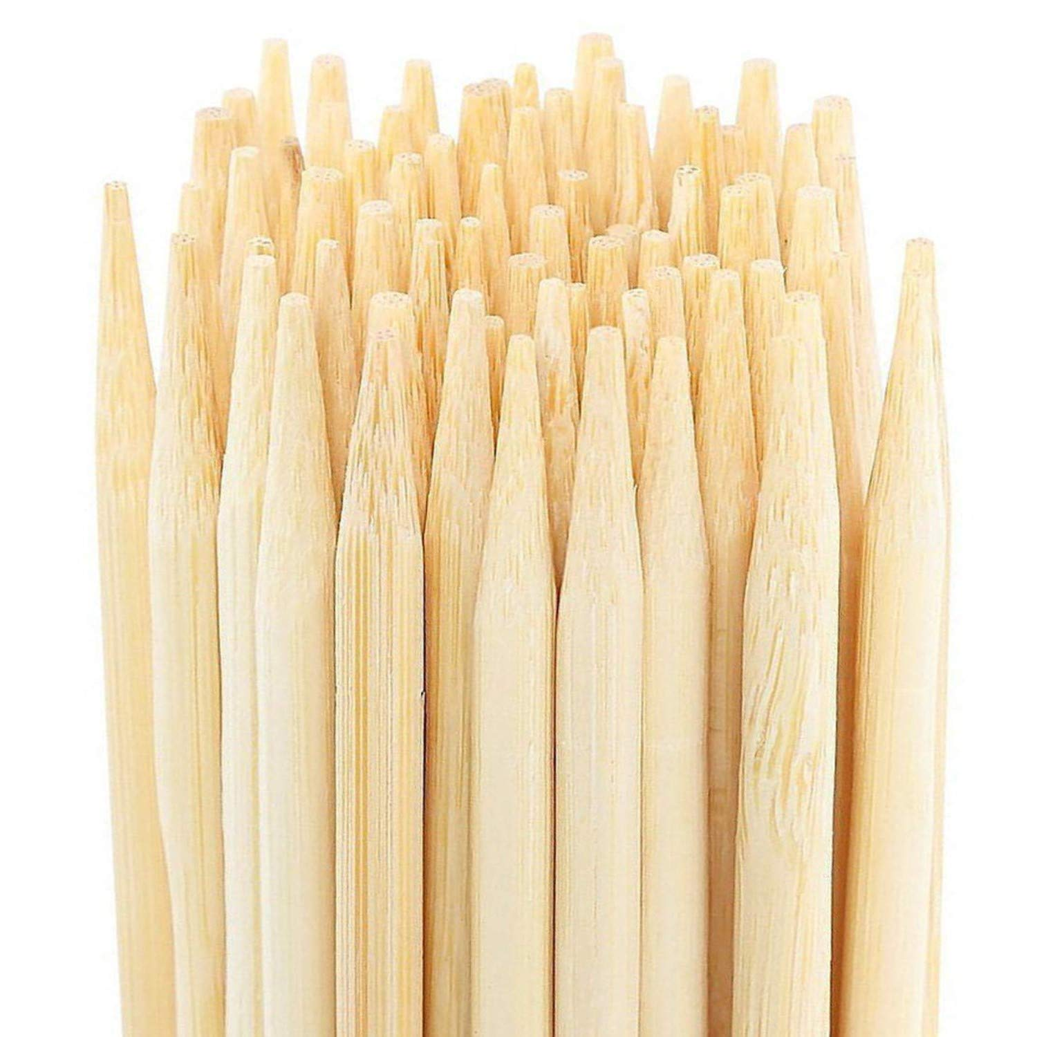 Bamboo Marshmallow Roasting Sticks 36 Inch 6mm Extra Thick Extra Long Heavy Duty Wooden Skewers, 110 Pieces. Great for S'mores Hot Dog Kebab Sausage, Environmentally Safe 100% Biodegradable