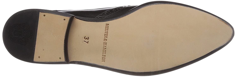 Melvin & Hamilton Jessy 6, 6, 6, Scarpe Stringate Derby DonnaNero (Crust/Black/Ls Nat.) 733c57