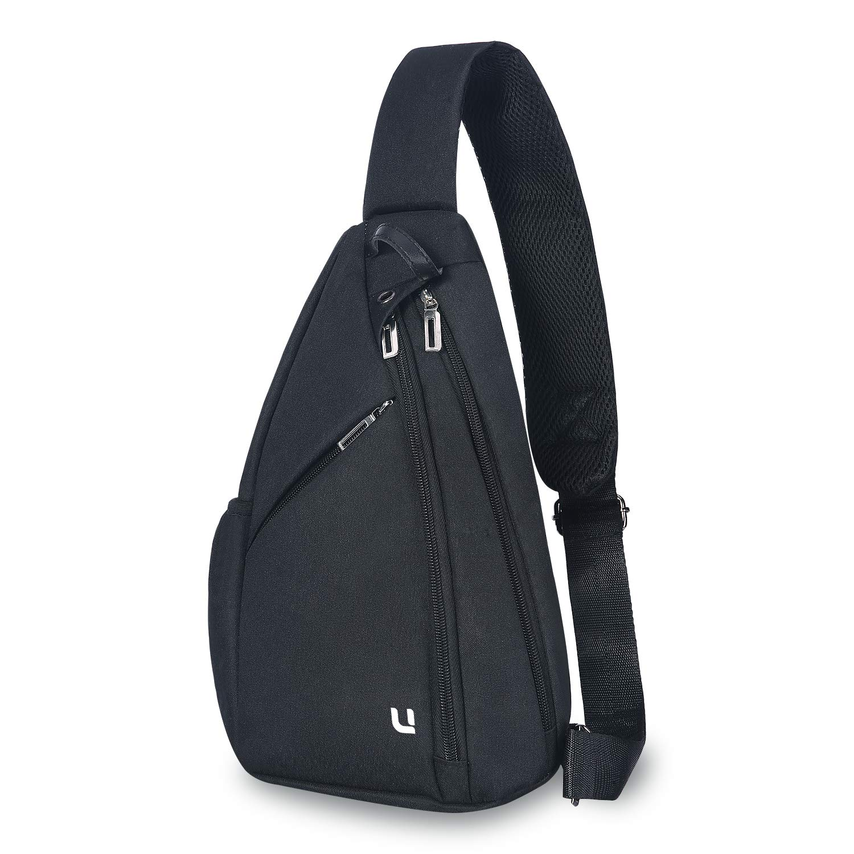 UNIQUEBELLA Sling Backpack Sling Bag Small Crossbody Daypack Casual Backpack Chest Bag Rucksack for Men and Women