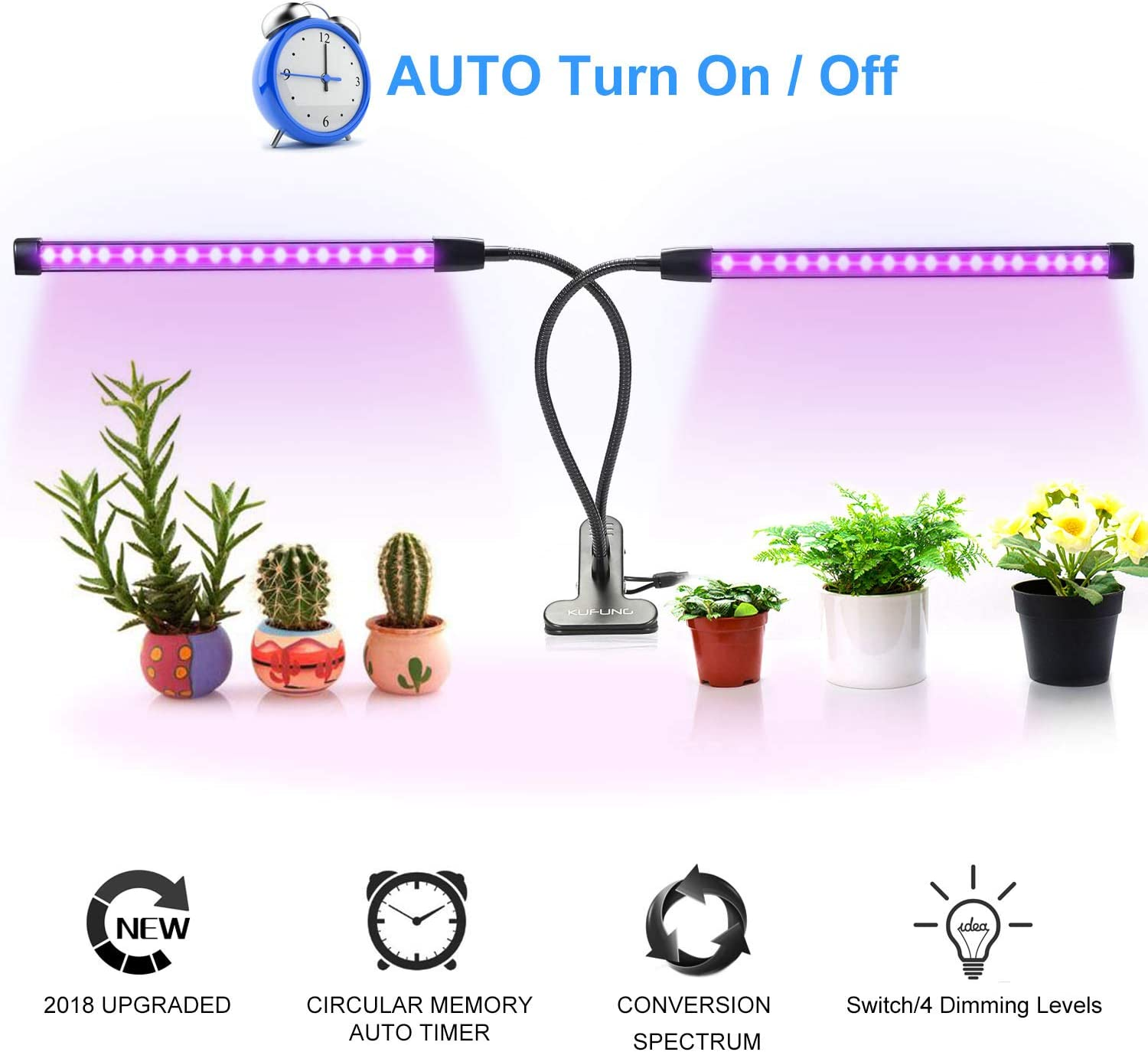 Full Spectrum Plant Light with IR /& UV LEDs for Seedlings//Micro Greens//Clones,Can Be Connected Max 8 Panels Grow Light for Indoor Plants Size: 12.2 x 4.7 inch.