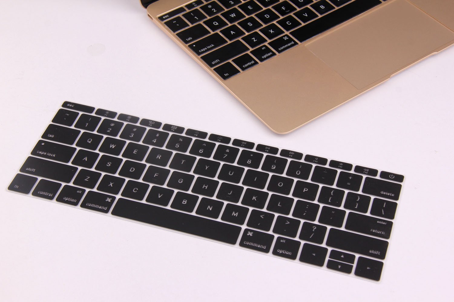Premium Mac OS X Shortcut Hot Keys Keyboard Cover for NEWEST Macbook Pro with Touch Bar 13 Inch A1706 or 15 Inch A1707 2016 Release