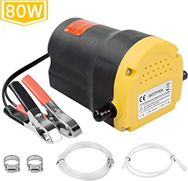 RV HONGNAL 80w Oil Change Pump Extractor Electric 12v for Boat//Car//Lawn Mower 12V Oil Extractor Pump Marine for Changing Diesel Fluid Scavenge Suction Oil Transfer Pump Kits for Jet Ski Truck ATV