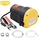 Upgraded 80W Oil Change Pump Extractor Sicotool 12v Diesel Fluid Scavenge Suction Oil Transfer Pump with Hose for Car…
