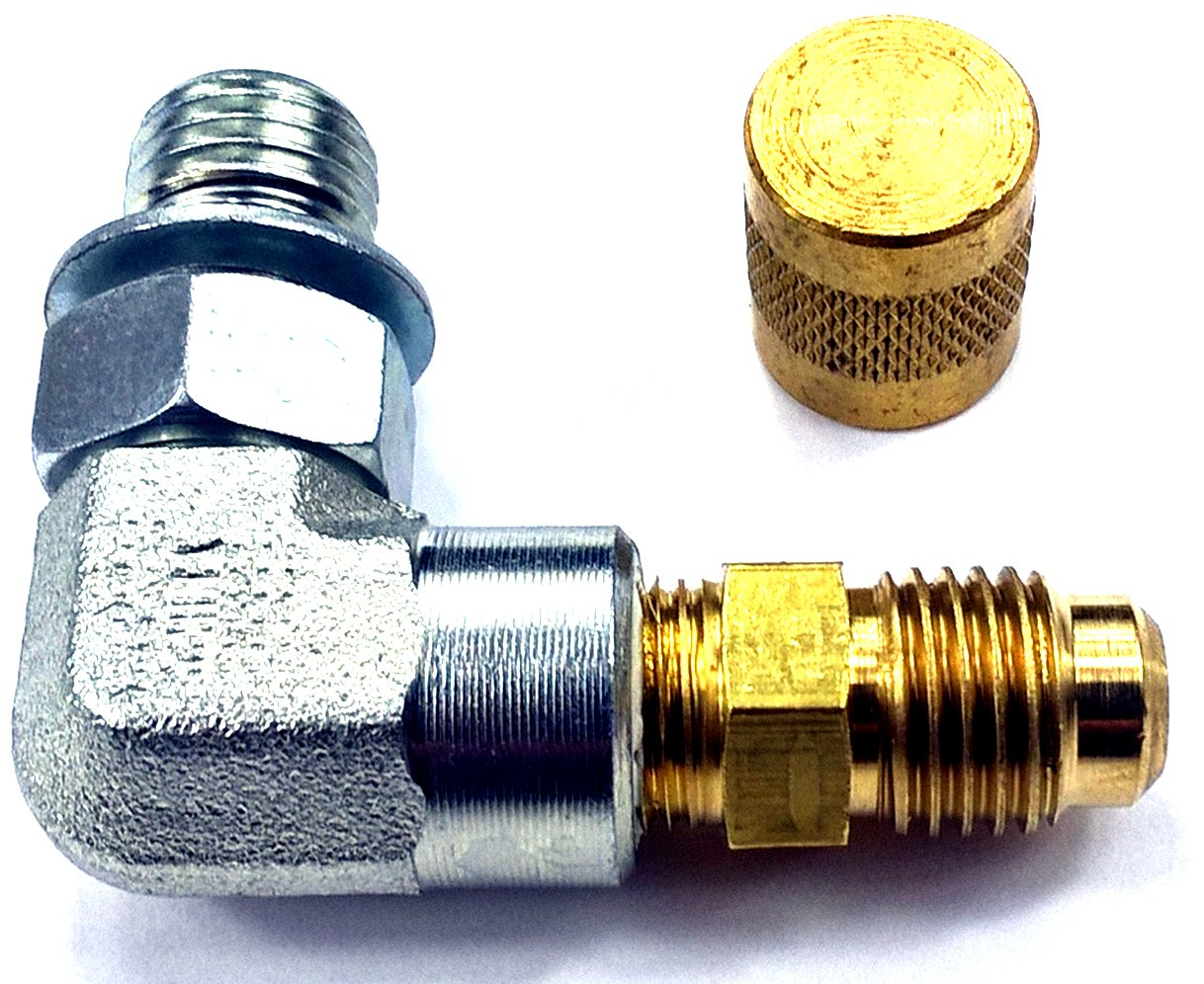 TamerX Fuel Pressure 90° Test Port for Ford Powerstroke 7.3L by TamerX (Image #1)