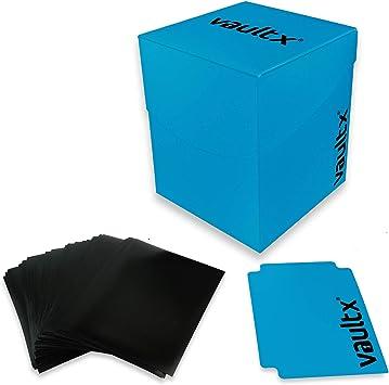Vault X® Caja Grande de Cartas con 150 Fundas Negras - Tamaño Grande para 100+ Cartas en Fundas - Porta Tarjetas Libre de PVC para TCG (Azul): Amazon.es: Juguetes y juegos