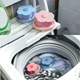 HEWADY Reusable Washing Machine Floating Lint Mesh Bag Portable Washer Lint Catcher Washing Machine Lint Trap for Household Tool Hair Filter Net Pouch Blue /& Pink Washer Hair Catcher