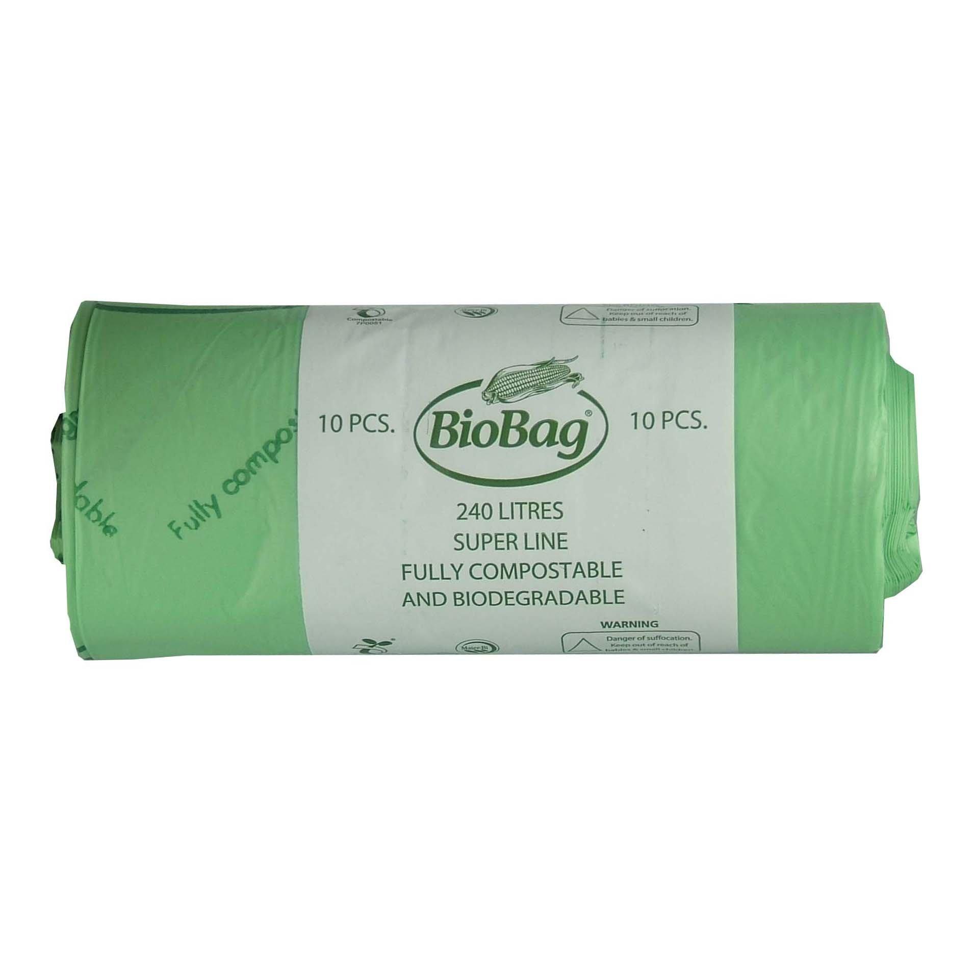 all green 240 litre biobag compostable wheelie bin liners. Black Bedroom Furniture Sets. Home Design Ideas